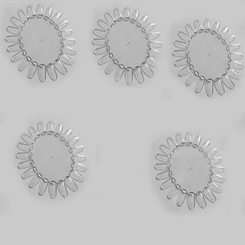1 Pcs Transoarent Nail Art Tips Comestic Oefenronde Wheel Poolse Acryl Display Decor Display Praktijk Polish Nail Art Wiel