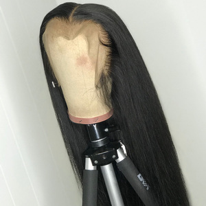 Image 2 - Lace Front Human Hair Wigs Remy Straight Hair PrePlucked Hairline Baby Hair 8 26 Inch 13x4 150% Real Human Hair Lace Front Wig L