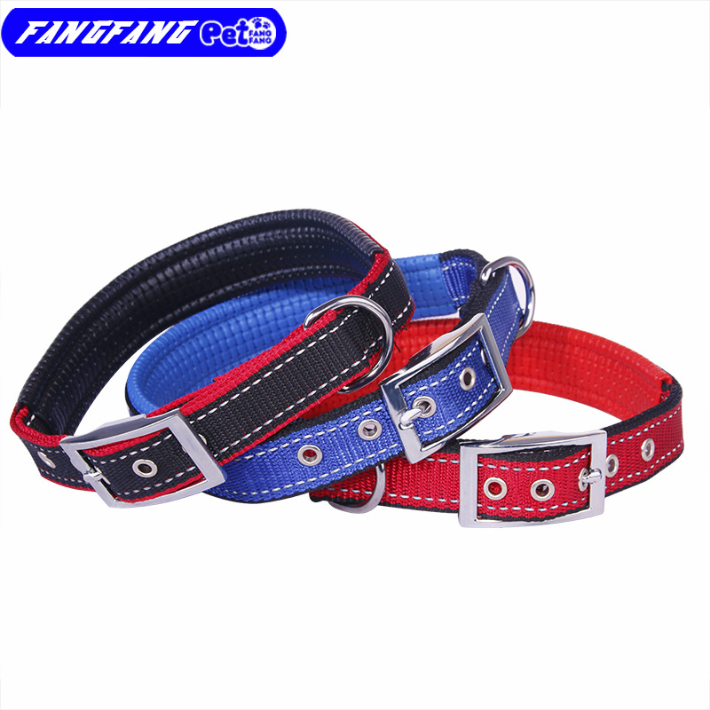 Manufacturers Direct Selling Dog Supplies Foam Dog Collar Medium-small Large Dog Collar Top Grade Thick Nylon Collar