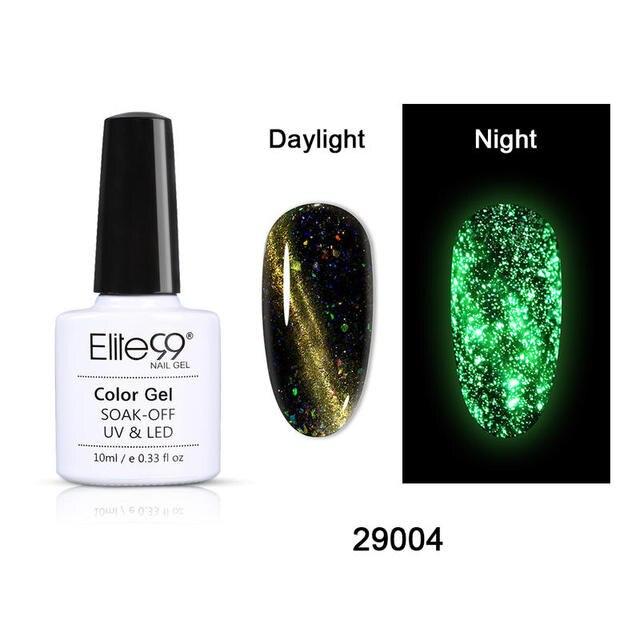 Elite99 10ml Leucht Magnetische 3D Cat Eye Gel Polnisch Galaxy Katzenauge Gel Lacke Pailletten Glitter Für Nägel kunst Maniküre