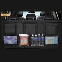 Multi use PU leather Car Rear Seat Back Storage Bag Car Trunk Organizer Auto Stowing Tidying for SUV MPV Auto Accessories