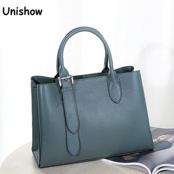 Luxury Genuine Leather Women Handbag Brand Design Shoulder Bag Women Casual Ladies Leather Totes Bag Crossbody Messenger Bag