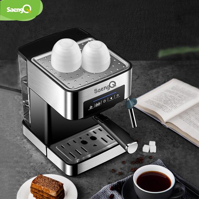 SaengQ cafetera eléctrica americana cafetera Espresso 1500ml de lujo de espuma de leche 220 V/110 V electrodoméstico - 5