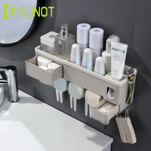 Toothbrush-Holder Dispenser Bathroom-Accessories Home-Storage-Box Automatic Wall-Mounted