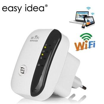 Wifi Repetidor inalámbrico a 300 Mbps 802.11n/b/g Repetidor de Red Antena Señal...