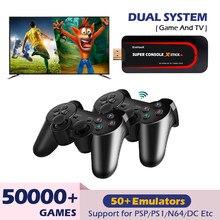 Super console x vara mini consoles de jogos de vídeo 4k hd para hdmi wifi portátil retro tv jogos emulador para psp/n64 com 50000 + jogo