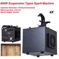 4 DMX512 pçs/lote 400W Cachoeira Sparklers Fogos de Artifício Pirotecnia Remoto Controle de Fogo Frio Máquina de Faísca para a Iluminação de Palco Fixo