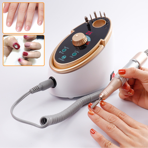 Image 2 - Electric Nail File Drill 35000RPM 65W Manicure Pedicure Machine Strong Nail Art Gel Polishing Grinding Device Nail Drill Bits
