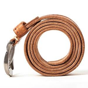 Image 5 - MEDYLA Vintage Original Leather Belt for Men High Quality Natural Leather No interlayer Mens Belt for Jeans Casual Pants