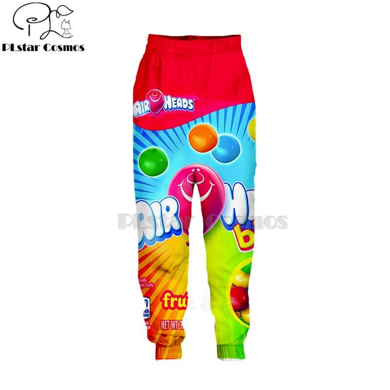 PLstar Cosmos Newest Candy Snack Bag Chocolate Sauce Pants Men Novelty 3d Cool Harajuku Pants Full Hip Hop Sweatpants Dropship