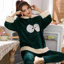2020 new flannel round neck autumn and winter women's thick