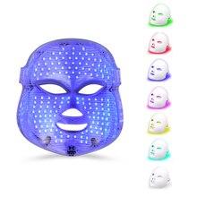 7 لون LED أقنعة الوجه الملونة المنزلية الأحمر الأزرق ضوء إزالة حب الشباب علامة العناية بالبشرة الفوتون تجديد الجمال أداة