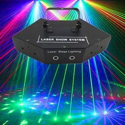 6 lente rgb laser linhas varreduras feixe com padrões dmx dj barra de dança festa em casa discoteca efeito luz sistema mostrar iluminação palco laser