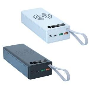 Image 1 - انفصال QC3.0 PD شاشة الكريستال السائل لتقوم بها بنفسك 16x18650 علبة البطارية قوة البنك شل 10 واط صندوق شحن لاسلكي بدون باور بنك لشحن البطاريات P