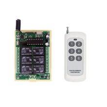 Dc 12 v 24 v 6ch 6 ch pequeno canal de controle remoto sem fio controlador rádio interruptor transmissor receptor 433 mhz