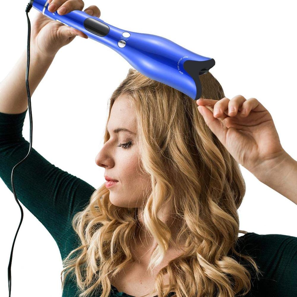 Professional Air Spin & N Curl 1 Inch Ceramic Rotating Curler Air Spin and Curl Curler Automatic Curling Iron for All Hair Types