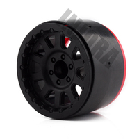 4PCS RC Rock Crawler Plastic 2.2 Beadlock Wheel Rim for 1/10 Axial SCX10 RR10 Wraith Yeti RC Car 3