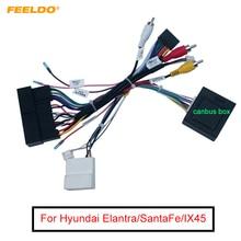 FEELDO samochodowe Stereo 16Pin kable w wiązce z obsługą Canbus oryginalne USB dla Hyundai Elantra/SantaFe/IX45/K3/Sportage