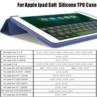 soft tpu For Capa iPad Pro 12.9 10.5 Silicone Soft TPU 2019 Smart Case Heat Dissipation Auto Wake Sleep For iPad Mini air 1 2 3 4 Case (2)