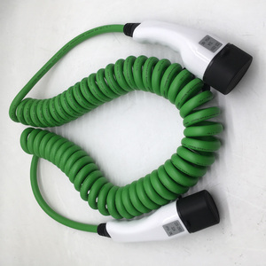 Image 3 - 32a one phase ev cable type 2 to type 2 spring wire EV charger for electric vehicle iec 62196 32a evse kit