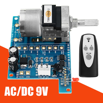 DC 9V Infrared Remote Control Potentiometer Volume Control Board Motor Control Audio Amplifier Modules With Indicator Light