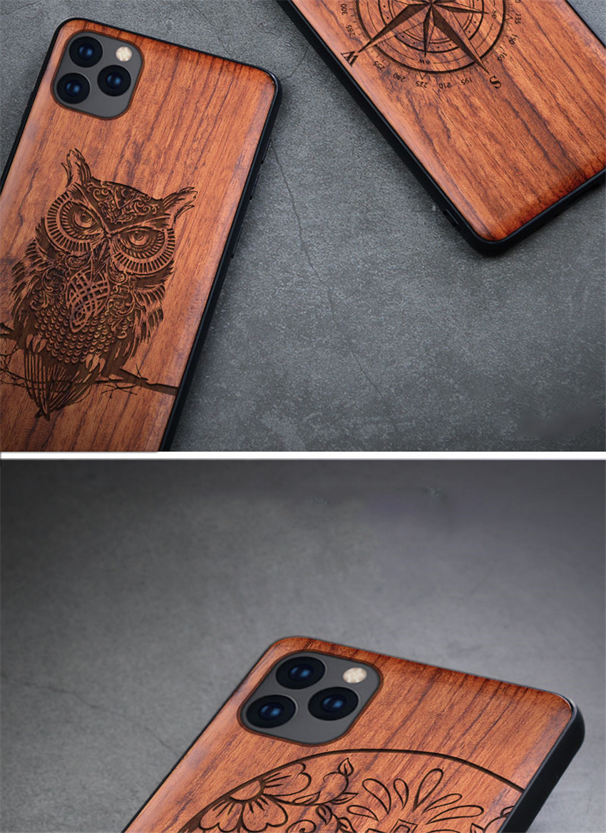 100% Natural Wooden Case For iPhone 12