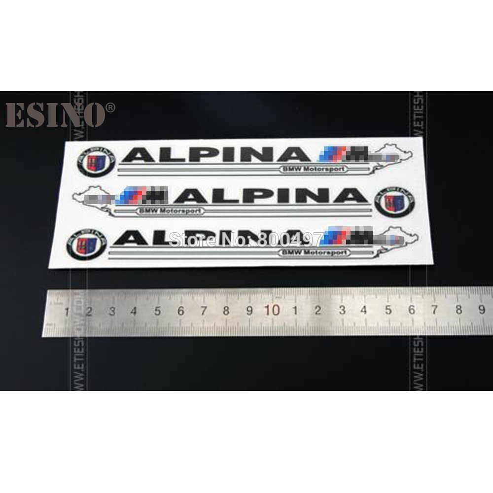 3 x nouveau universel voiture style voiture rétroviseur décoratif vinyle autocollants créatif voiture décalcomanies pour BMW M Alpina Motorsport