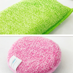Image 4 - BEAR FAMILY Super Cleaning Brush Sponge Antibacterial Melamine Microfiber PVC Double sided Cleaning Sponges Scouring Pad Kitchen