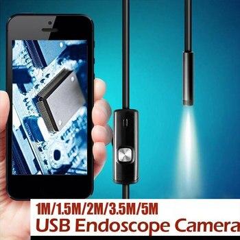 Plástico de Metal práctico 3 en 1 8mm oreja cuchara alcance endoscopio de mano endoscopio teléfonos móviles ordenadores fotos inspección
