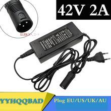 36V מטען 42V 2A חשמלי אופני ליתיום סוללה מטען עבור 36V ליתיום סוללה חבילה עם 3 פין XLR שקע/מחבר