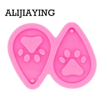 Silicone Mold Pendant-Mould Earrings Crafts Epoxy-Jewelry-Making Resin Tear Paw for DIY