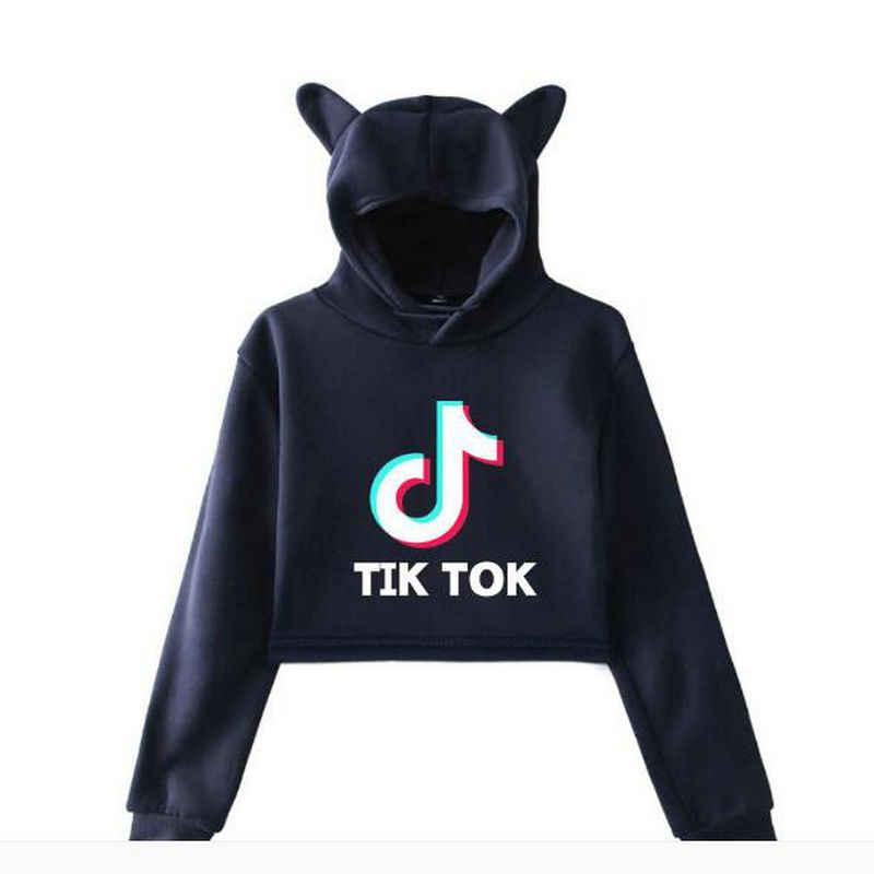 뜨거운 2019 가을 여자 탑 운동복 kawaii 까마귀 패션 허리 인쇄 풀 오버 스웨터 후드 플러스 크기 zy01
