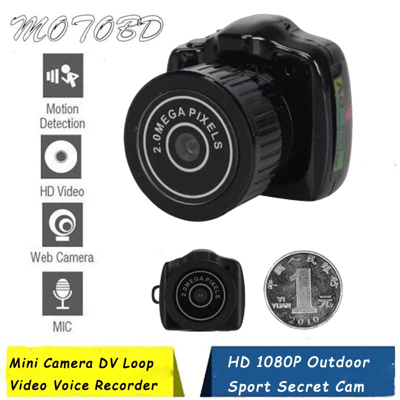 Color : Black HENGTONGTONGXUN Y2000 Mini Camera Camcorder HD 1080P Micro DVR Camcorder Portable Webcam Video Voice Recorder Camera6 Easy to use
