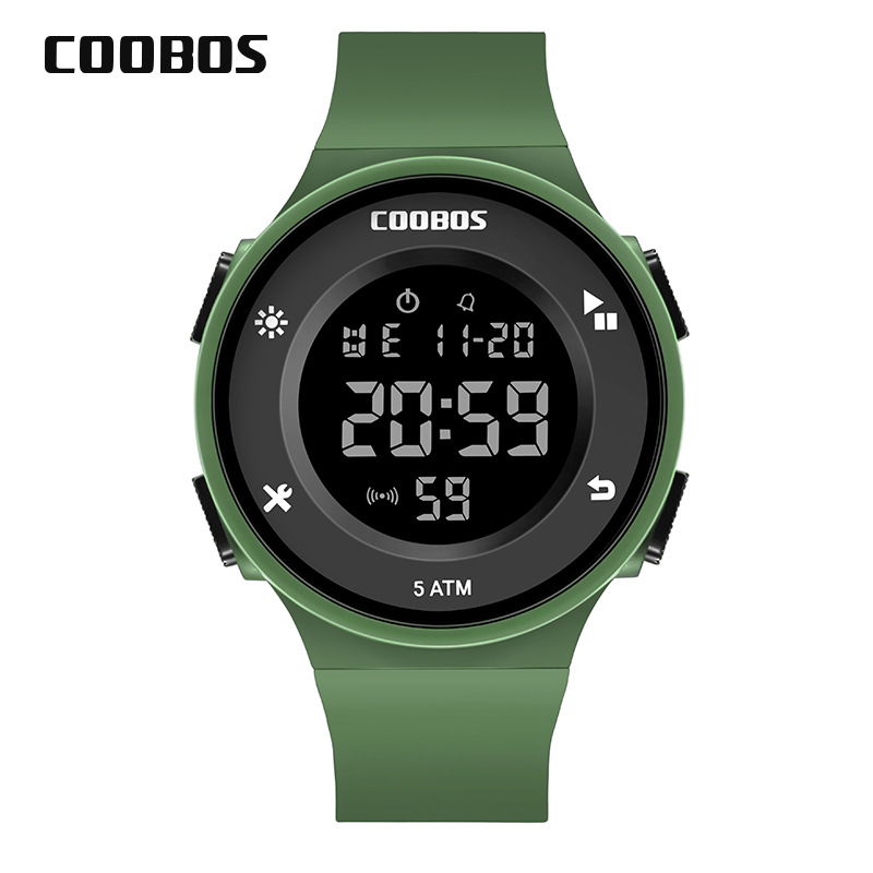 Army Green Kids Watch Waterproof Boys Girls Digital Watches 5 Bar Children Sports Wrist Watch For Men Women 2019 Relogio Digital