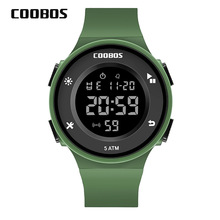 Army Green Kids Watch Waterproof Boys Girls Digital