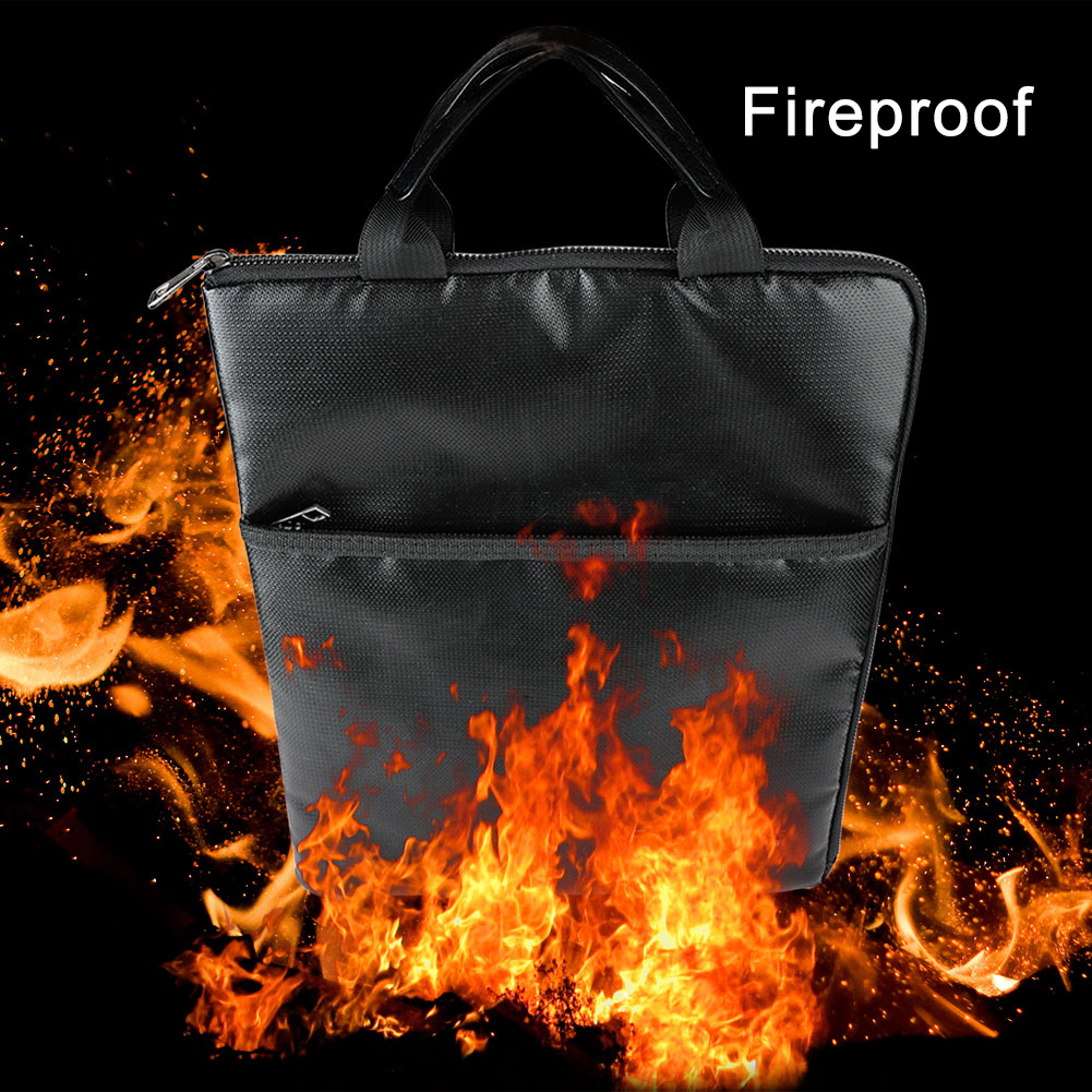 Fireproof Document Bag Fire Resistant Document Bag Envelope Pouch For File Passport Photo Organizer