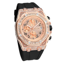 PINTIME Sport Chronograph Watch Men Hip Hop Gold Military Di