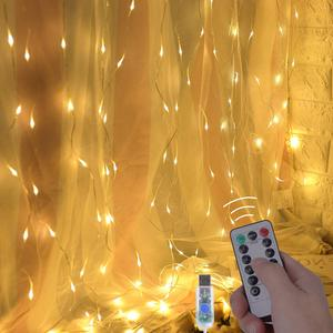 Image 3 - LED garland curtain string lights Remote Control fairy light Home decoration on the window Wedding party light string led decor