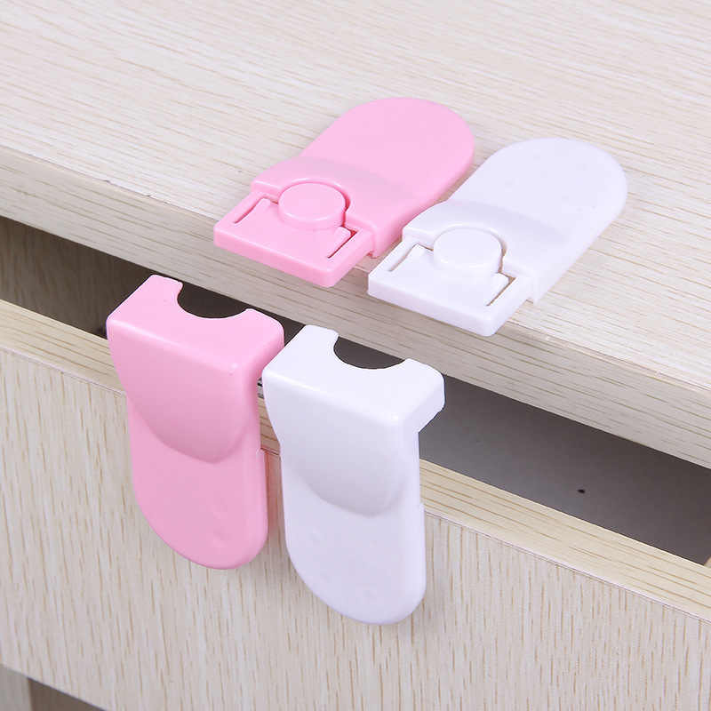 2Pcs/Set Cabinet Locks Children Drawer Cupboard Refrigerator Door Desk Plastic Protection Locking Baby Kids Straps Safety Straps