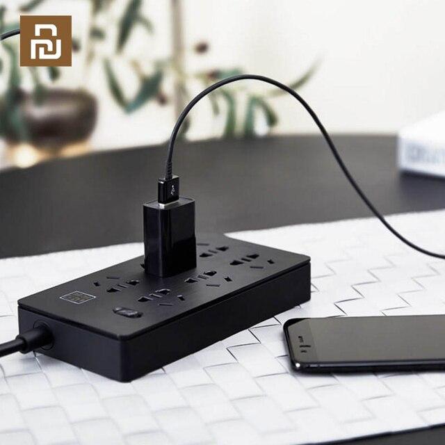 YOUPIN Airgo כוח רצועת 6 יציאות 3 USB הארכת 6 שקע 3 USB תשלום מהיר 5V 2.1A Аor בית ונסיעות