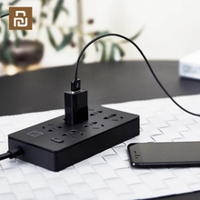 YOUPIN Airgo Power Strip 6 Ports 3 USB Extension 6 Socket 3 USB Fast Charge 5V 2.1A Аor home and Travel