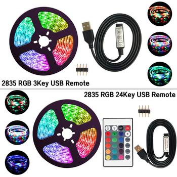 Dc 5V USB Led Strip Flexible Light 60LEDs/m 5m SMD 2835 Led Light Strip Desktop Decor Screen TV Backlight Lighting