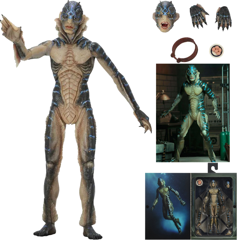 7 Inch Original NECA The Shape Of Water Amphibian Man Movable Action Figure PVC Collection Model Toy Gift