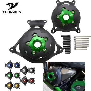 For Kawasaki Z750 07-12 Z800 13-16 Motorcycle Engine Stator Guard Covers Engine Saver Case Cover Protector Moto Engine Stator