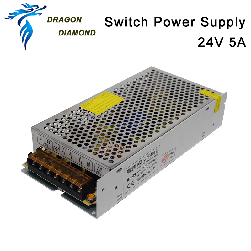 Switch Power Supply DC 24V 5A For Trocen AWC708S Controlle  For Laser Engraving & Cutting Machine