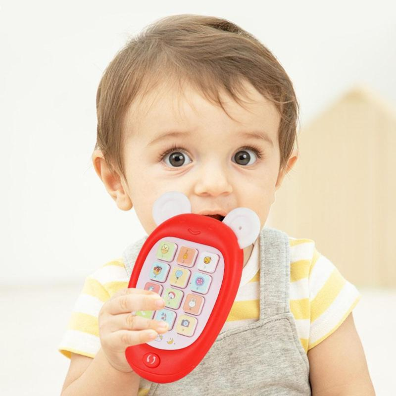 Cartoon Electronic Mobile Phone Toy Baby Kid Musical Early Education Cellphone Button Calling Simulation Gifts