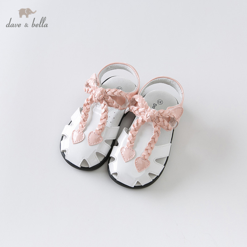 DB13465 Dave Bella Summer Baby Girl Sandals New Born Infant Shoes Girl Sandals Princesss Shoes