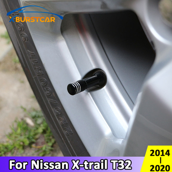 Xburstcar for Nissan X-trail Xtrail T32 2014- 2020 4Pcs/Set Aluminum Alloy Metal Car Wheel Tire Valve Caps Stem Case Accessories image