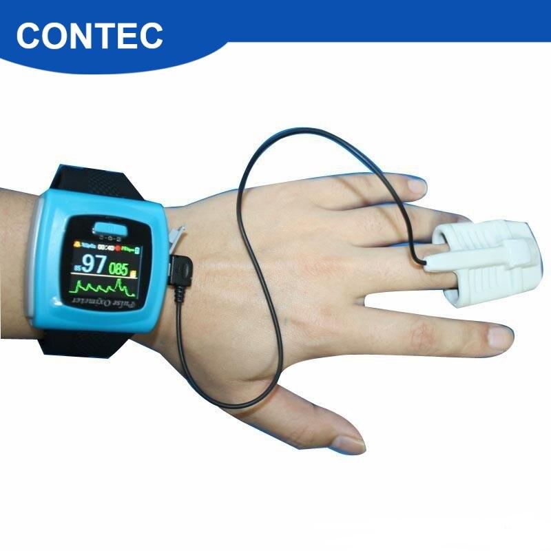Contec Пульсоксиметр для запястья цветной OLED дисплей SpO2 зонд + программное обеспечение, CMS50F Монитор артериального давления oximetfast доставка!