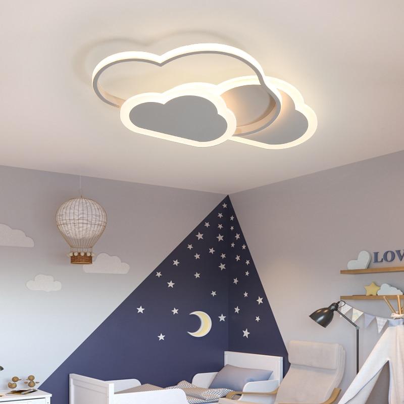 Светодиодная потолочная лампа для детской комнаты, спальни, кабинета, детской, современная, с регулируемой яркостью, креативная детская люс...